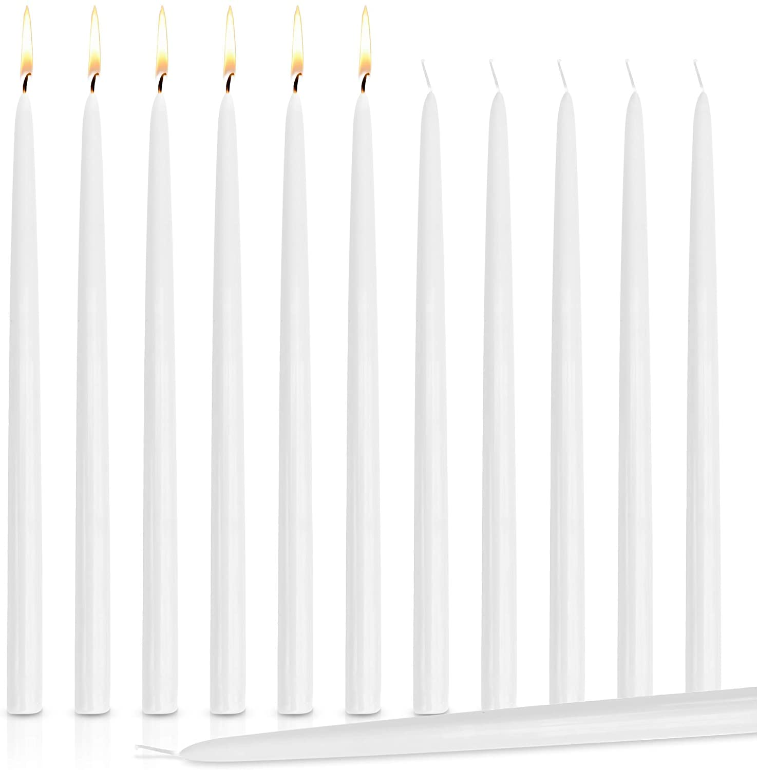 24 Inch White Taper Candle (144pcs/cs)