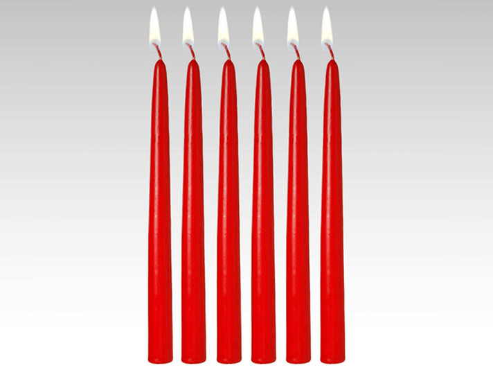 18 inch Red Taper Candle (144pcs)