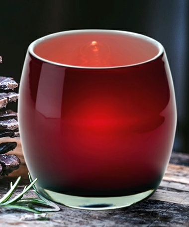 Candy Apple Glass Votive