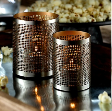 Chantilly Perforated Metal Votive Holder