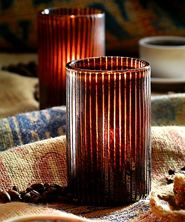 Mocha Cylinder Glass  Holder