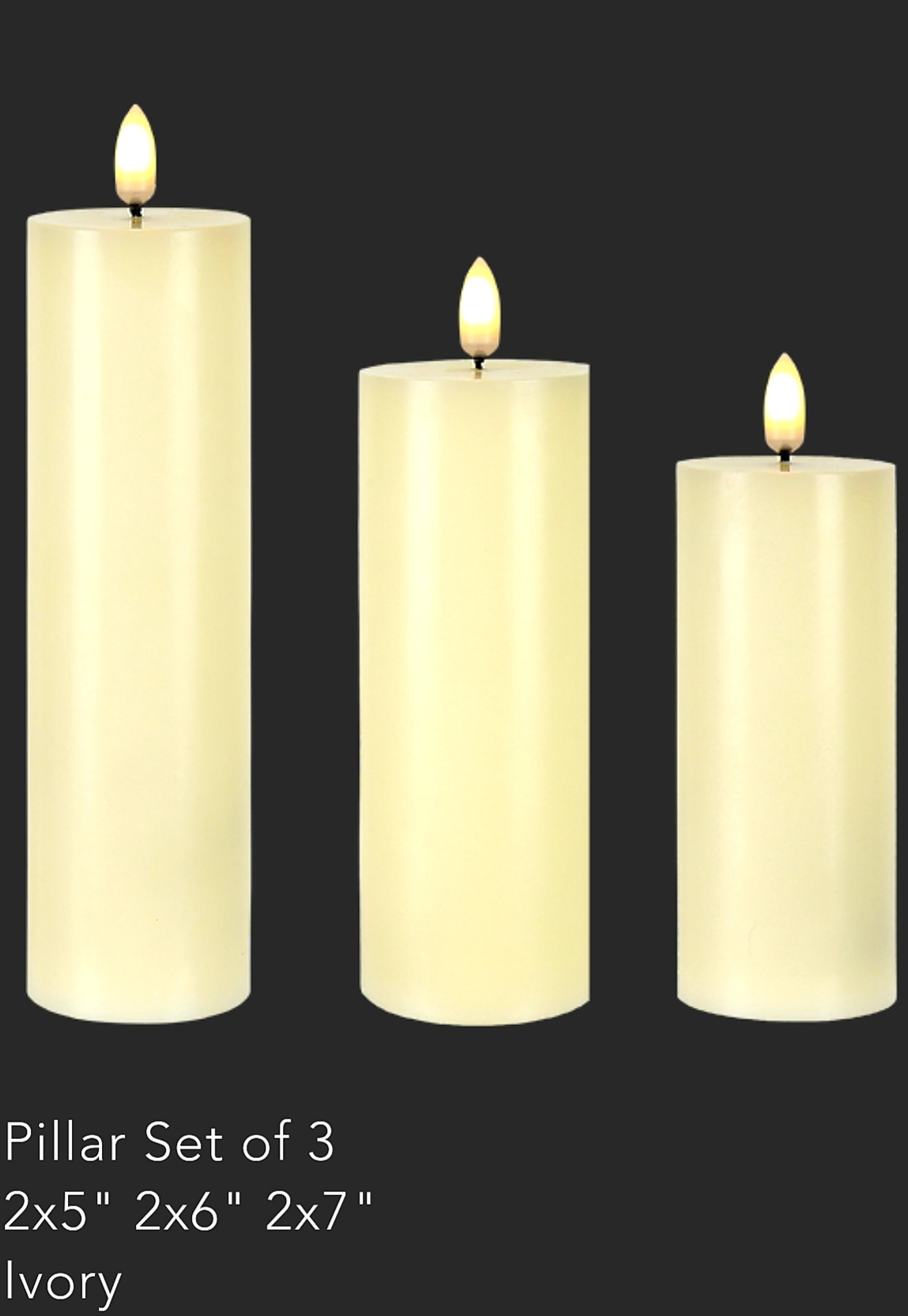 Patria 3D LED Pillar Candle  (36units)