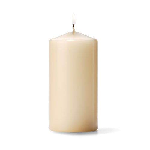 Ivory Unscented Pillar Candles (12pcs)