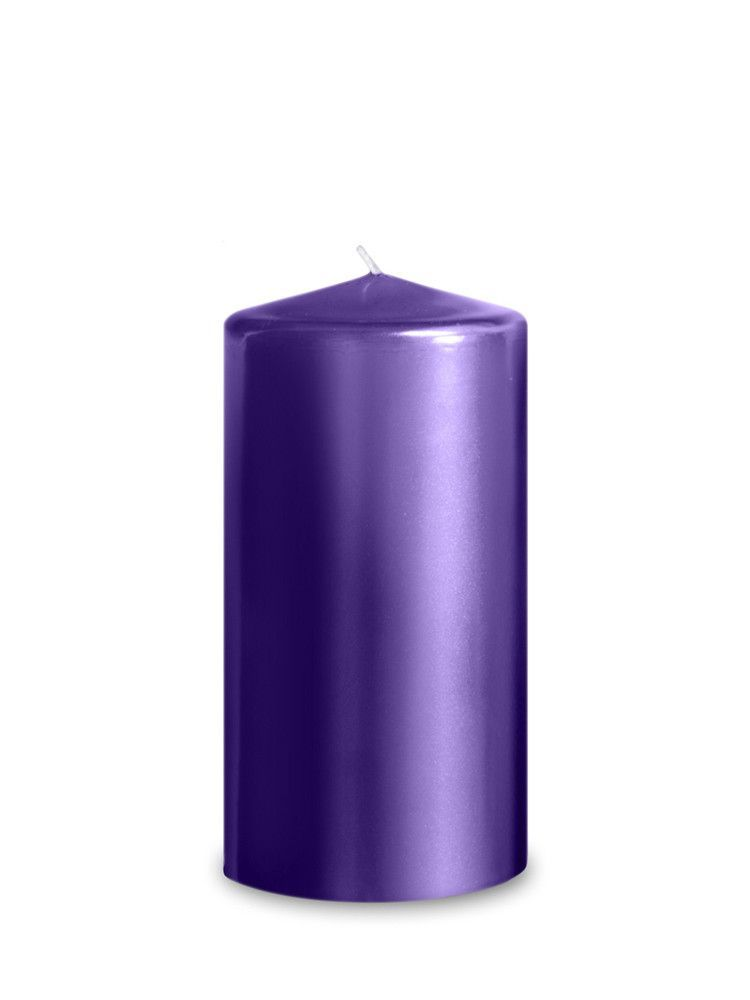 Purple  Metallic Pillar  Candles