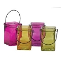 4.75 INCH CUBE BRIGHTON COLORS CANDLE GLASS (24PCS)
