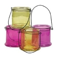 4.75 INCH ROUND BRIGHTEN COLORS CANDLE GLASS (16PCS)