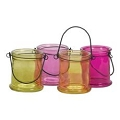 4 INCH ROUND BRIGHTEN COLORS CANDLE GLASS (24PCS)