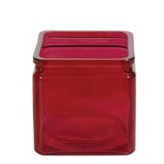 4 inch SQUARE DARK RED (18pcs)