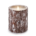 5-inch Luminara silver-washed bark Pillar