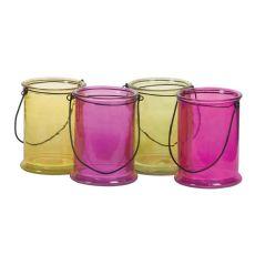 6.75 INCH ROUND BRIGHTEN COLORS CANDLE GLASS (12PCS)