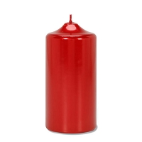Red Metallic Pillar Candle