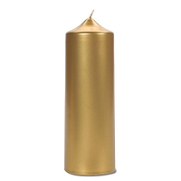 8 Inch Metallic Pillar Candles (12pcs)