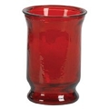 7.5inch ROUND DARK RED HURRICANE VASE (6pcs)