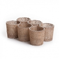 Burlap votive candle holder (12pcs)