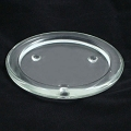 7.5inch clear glass Candle Plate