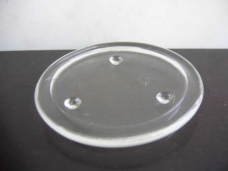4 inch clear glass Candle Plate