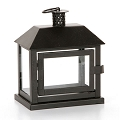 7 Inch Dark Brown  Metal  Lantern  (6pc)