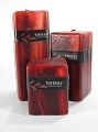 Embers Dark Red Pillar Candle