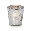 Silver Illusion embossed votive holder (12pcs)