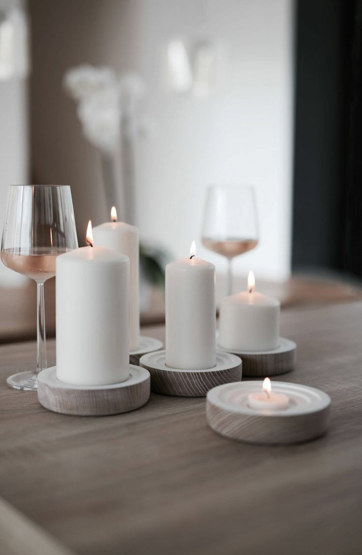 Candlelight is a fantastic accessory for a dinner date