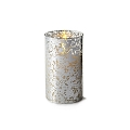 6inch Flameless Silver Mercury Glass Cylinder