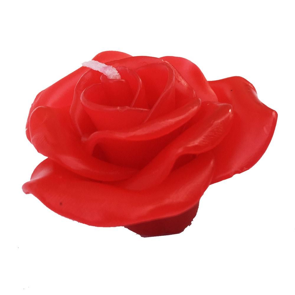 3 Inch Rose Red Floating Candles (12pcs)