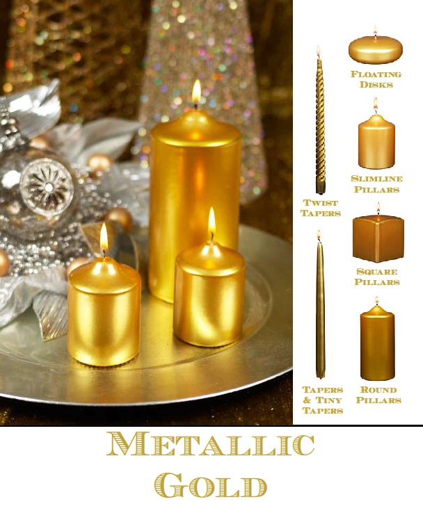METALLIC GOLD CANDLES