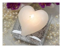 WHITE HEART FLOATING CANDLE (25PCS)
