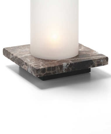Dark Emperador Square Single Lamp Base