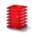Ruby Red Square Candle Holder
