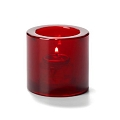 Round Ruby Red Candle Holder