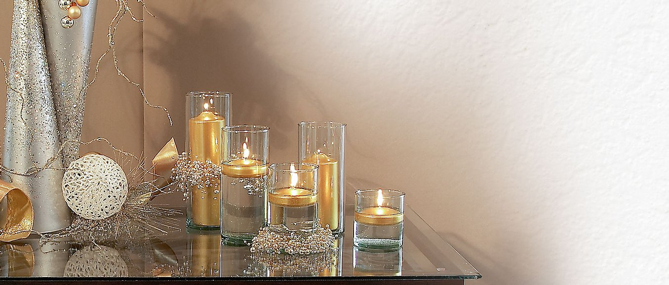 Metallic Floating Candles