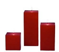 Pomegranate Square Pillar Candles (12pcs)