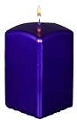 Purple Metallic Pillar Candle