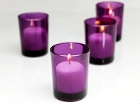 Purple Cylinder Votive Holder