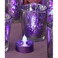 Purple Frosted Tea Light 3 per Pack