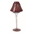 13 INCH RED & GOLD GLASS CANDLE STAND (12pcs)