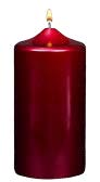 Pomegrante Metallic Pillar  Candles