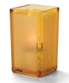 AMBER SATIN PANEL-QUAD GLASS VOTIVE LAMP