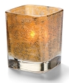 ANTIQUE GOLD TETRA SQUARE VOTIVE LAMP