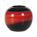 ROUND BOWL COLOR STREAKED ART GLASS VASE (1pc)