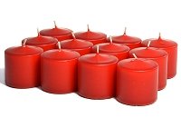 15 Hour Red Unscented Votives (288pcs)