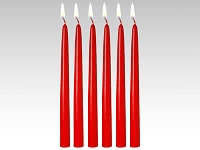 18 Inch Red Taper Candles (144pcs)
