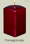 Square Metallic Pomegranate Pillar Candle (12pcs)