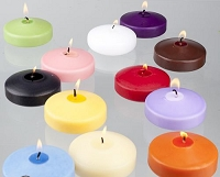 3 Inch Unscented Floating Candles (24pcs/cs)