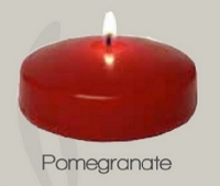 3 Inch Unscented Pomegranate Floating Candle (24pcs)