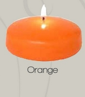 3 Inch Orange Floating Candle (24pcs)