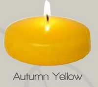 3 Inch Autumn Yellow Floating Candle  (24pcs)