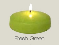 3 Inch Fresh Green Floating Candle ( 24pcs)