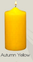 Unscented Autumn Yellow Pillar candle (12pcs)